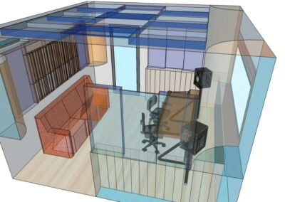 Isolamento Acustico Galleria Rendering